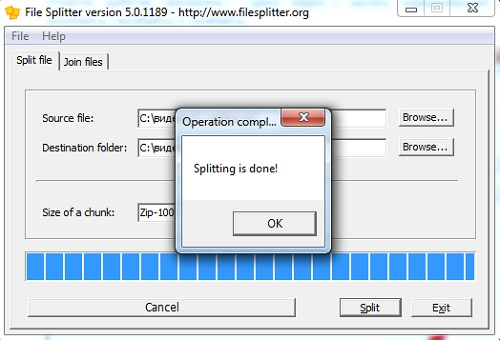filesplitting end