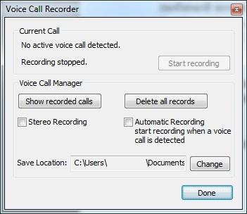 запись голосовых вызовов