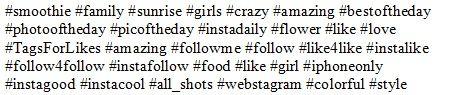 популярные теги instagram