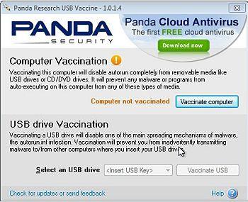 Утилита Panda USB Vaccine
