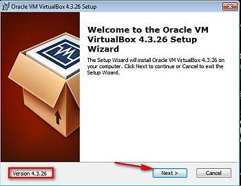 Окно приветствия VirtualBox