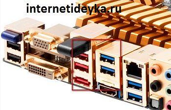 USB-порты задней панели материнской платы и системного блока-14